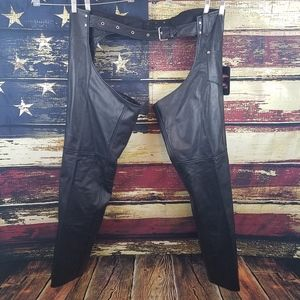JAMIN UNISEX LEATHER LINED MOTORCYCLE RIDING CHAPS